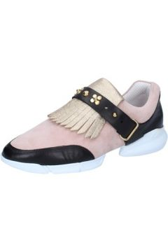 Chaussures Guardiani sneakers or daim rose cuir AB764(115393856)