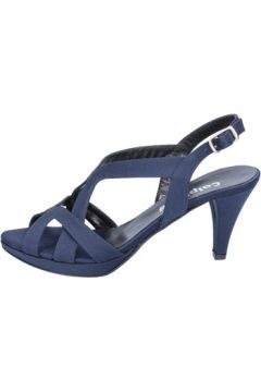 Sandales Calpierre sandales bleu satin BZ738(115398977)