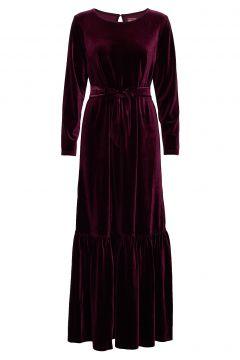 Elvira Velvet Maxikleid Partykleid Rot LINE OF OSLO(114163908)