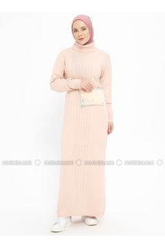 Powder - Polo neck - Unlined - Wool Blend -- Dresses - Veteks Line(110335386)
