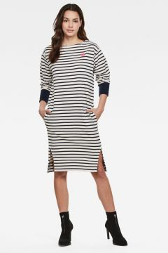 G-Star RAW Women Xzyph Yarn Dyed Stripe Dress White(117926540)