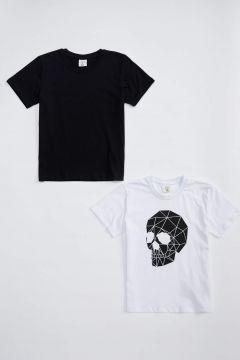 DeFacto Erkek Çocuk Kuru Kafa Baskılı Tişört 2\'li Takım(125928130)