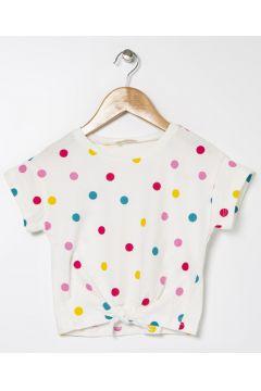 Koton Etek Ucu Bağlamalı Puantiyeli T-Shirt(113999247)