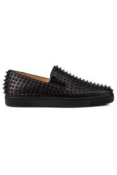Christian Louboutin Erkek Siyah Troklu Deri Sneaker 4.5 EU(113789555)