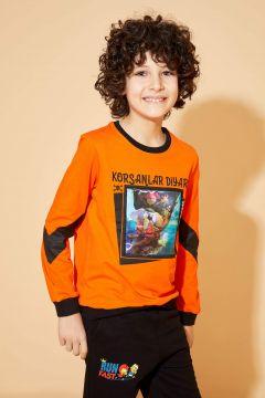 DeFacto Erkek Çocuk Kral Şakir Lisanslı Hologramlı Sweatshirt(119060882)