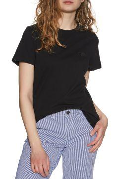 T-Shirt à Manche Courte Femme Superdry Orange Label Elite Crew - Black(111331457)