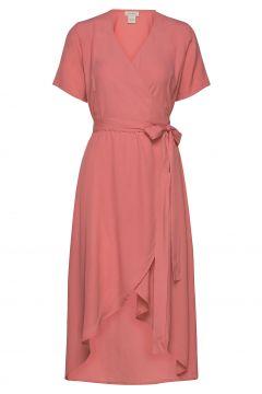 Melanie Wrap Dress Kleid Knielang Pink RESIDUS(114164573)