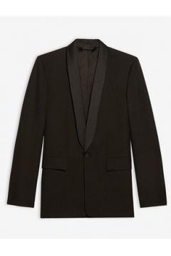 Balenciaga Erkek Siyah Şal Yaka Saten Garnili Yün Ceket 46 IT(114438777)
