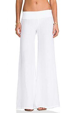Широкие льняные брюки - Enza Costa(115070047)
