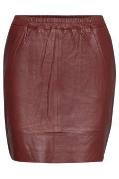 Leather Skirt W. Elastic In Waist Kurzes Kleid Rot COSTER COPENHAGEN(114163350)