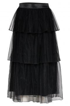 Dian 85 Tulle Skirt Knielanges Kleid Schwarz ANDIATA(114164010)