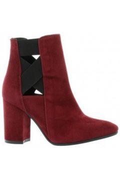 Bottines Nuova Riviera Boots cuir velours bdeaux(127860377)
