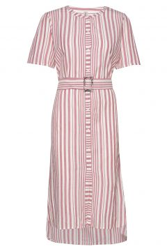 Striped Casey Long Kleid Knielang Pink BECKSÖNDERGAARD(118239996)