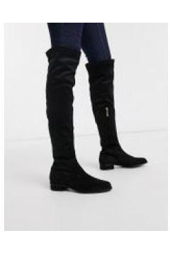 Karen Millen - Olivia - Stivali al ginocchio bassi neri-Nero(121707935)