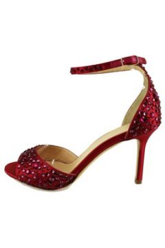 Sandales Lella Baldi sandales rouge satin strass AH824(88521351)