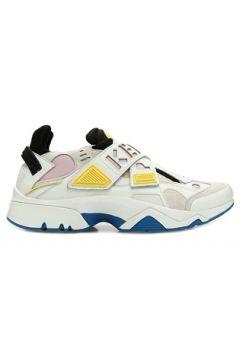 Kenzo Kadın Beyaz Renk Bloklu Logolu Deri Sneaker Pembe 38 EU(108972804)