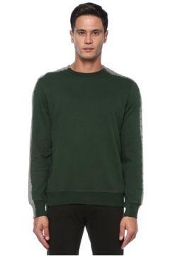 PS by Paul Smith Erkek Yeşil Gri Omzu Şerit Detaylı Sweatshirt S EU(121108261)