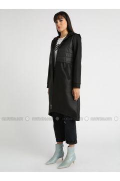 Black - Fully Lined - Topcoat - MOODBASİC(110339167)