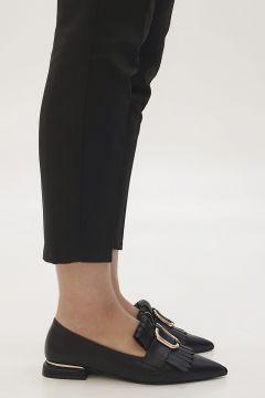 Marjin Siyah Kadın Novle Topuklu Ayakkabı(122382184)