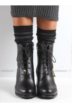 Black - Boot - Boots - İnan Ayakkabı(110316474)