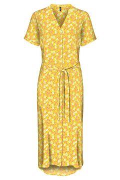 VERO MODA Bedrucktes Blusenkleid Damen Gelb(111128955)
