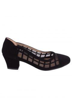 Caprito Siyah Süet Kadın Topuklu Ayakkabı(114006949)
