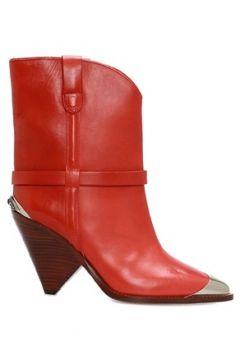 Isabel Marant Kadın Lamsy Kırmızı Plak Detaylı Deri Bot 36 EU(108972877)
