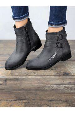 Smoke-coloured - Boot - Boots - Angelshe(110340373)