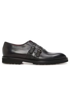 Barrett Erkek Siyah Çift Kemerli Deri Ayakkabı Gri 0 US(118330365)