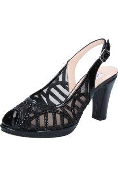 Sandales Musella sandales noir cuir verni strass BZ470(115399351)