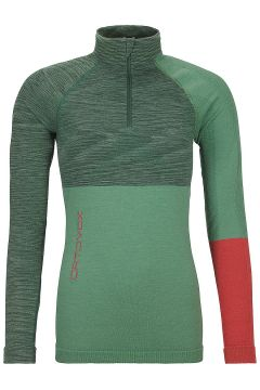 Ortovox Merino Comp Zip Neck Tech Tee LS groen(95393060)