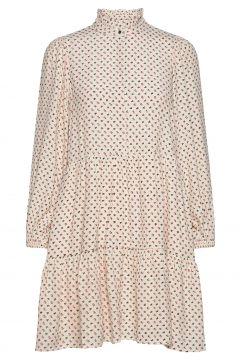 Olivia Short Dress Kleid Knielang Beige NOTES DU NORD(114164255)
