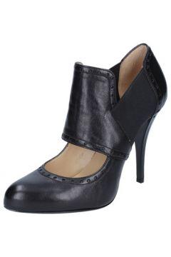 Boots Gianni Marra bottines noir cuir textile BY794(115401593)