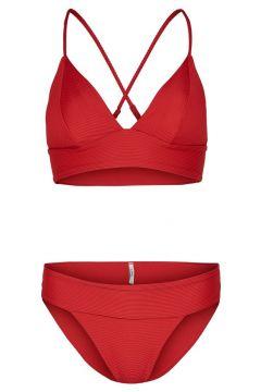 ONLY Trekantig Bikini Kvinna Röd(108807535)
