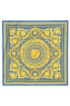 Versace Kadın Mavi Desenli İpek Eşarp EU(121159602)