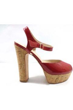 Sandales JFK sandales rouge cuir verni ay986(115443233)