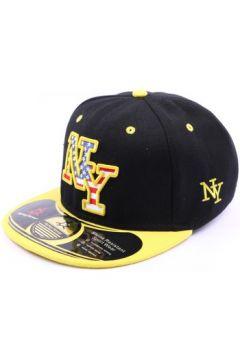 Casquette Hip Hop Honour Snapback NY noir visère jaune(115396357)