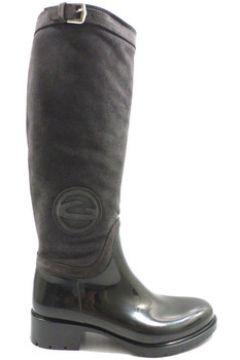Bottes Alberto Guardiani bottes gris caoutchouc noir daim ky250(88482081)