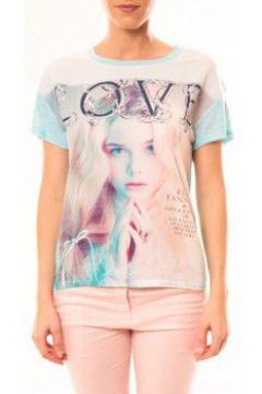 T-shirt By La Vitrine Top Love B002 Vert(88501509)