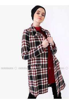 Maroon - Multi - Unlined - Shawl Collar - Trench Coat - MisCats(110315015)