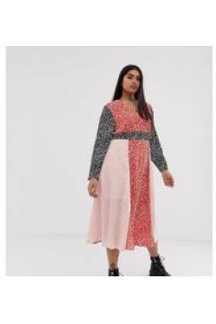 Glamorous Curve - Asymmetrisches Kleid in Mustermix(95025439)