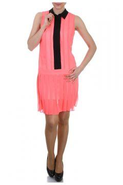 Caramel Yakalı Kolsuz Elbise(114209443)