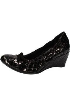 Ballerines Calpierre ballerines talons compensé noir cuir verni AD578(115395335)