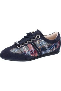 Chaussures Alessandro Dell\'acqua sneakers bleu daim ky27(115401979)