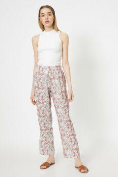 Koton Kadın Çiçek Desenli Saten Pijama Alti(113418527)