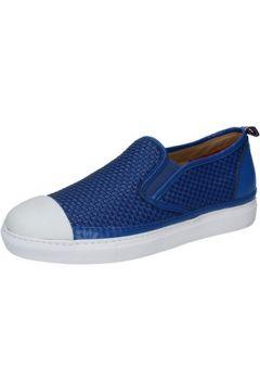 Chaussures Brimarts slip on bleu cuir BZ283(115393989)