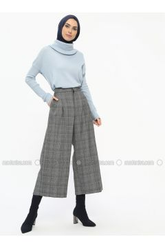 Gray - Plaid - Pants - NZL(110329909)