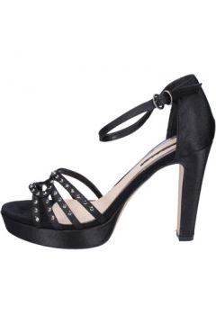 Sandales Silvana sandales noir satin strass BY109(88522606)