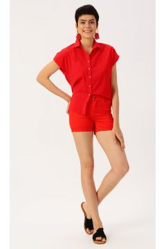 Vero Moda Slim Fit Kırmızı Şort(113981029)