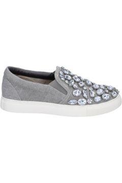 Chaussures Sara Lopez slip on gris toile pierres BT992(115442989)